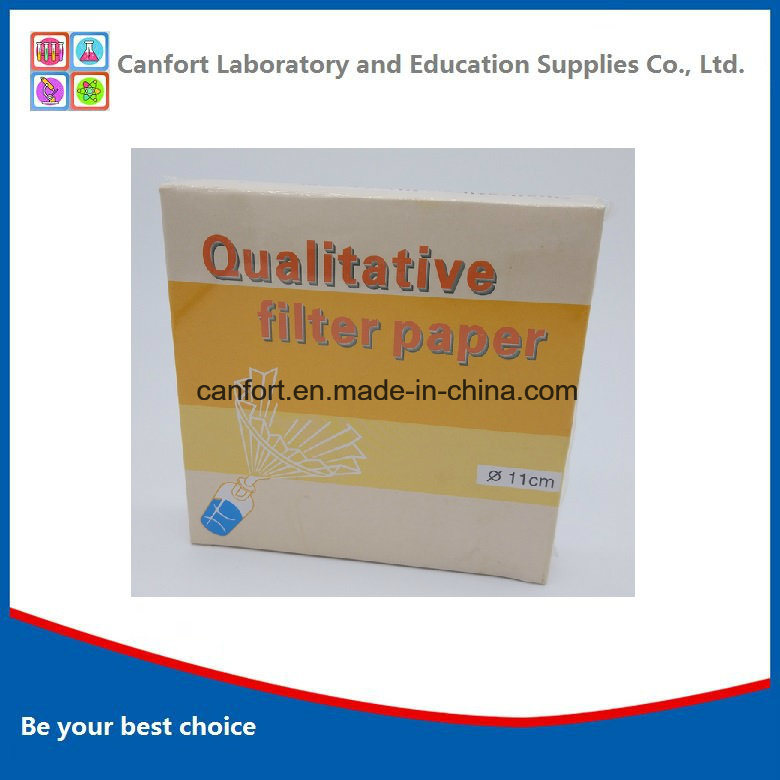 Lab Equipment Qualitative Filter Paper (11cm) with Many Specifications