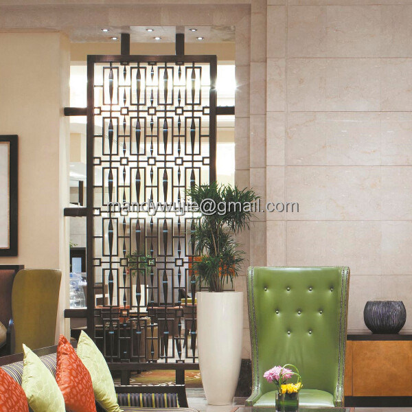 Decorative Stainless Steel Laser Cut Room Divider