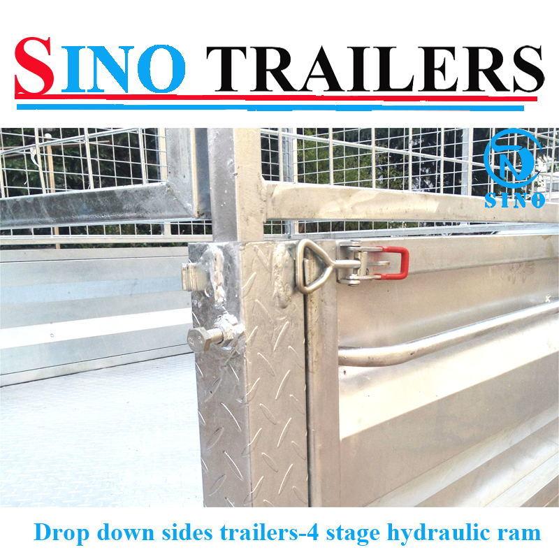 Drop Down Side Heavy Duty Hydraulic Tipping Trailers