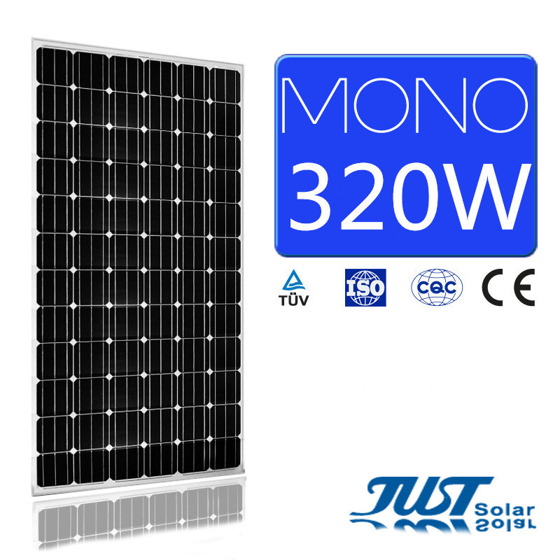 High Efficiency 320W Mono Solar Panel with Ce CQC TUV Certifications for Solar Power Plant