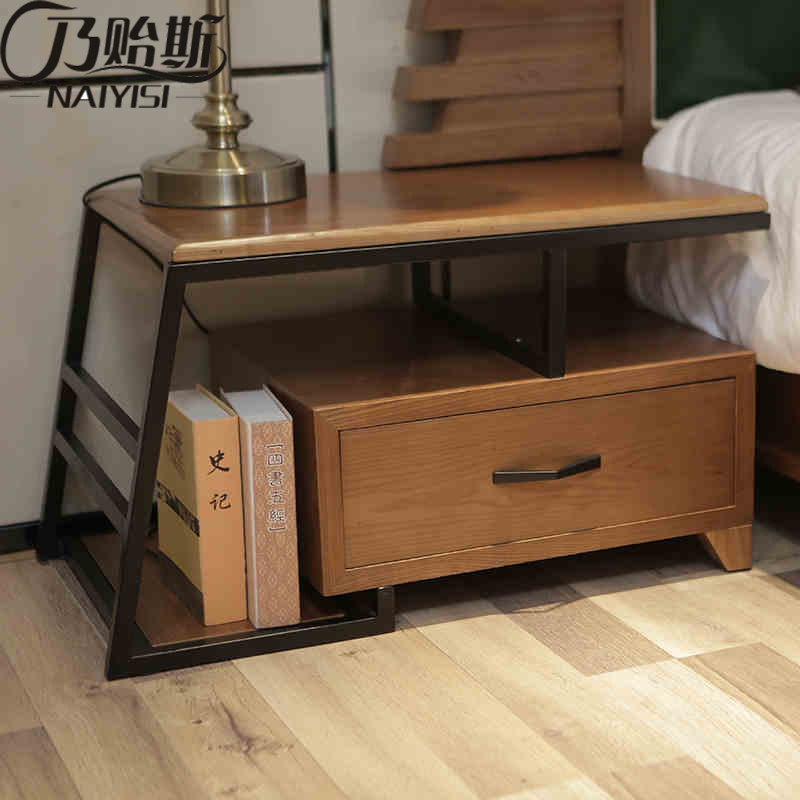 Solid Wood Nightstand for Bedroom Furniture CH-603