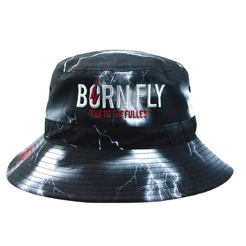 Custom Fashion Colorful Polyester Bucket Hat Summer Hat Fishing Cap