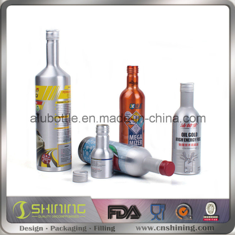 Aluminum Motor Oil Additive Bottle