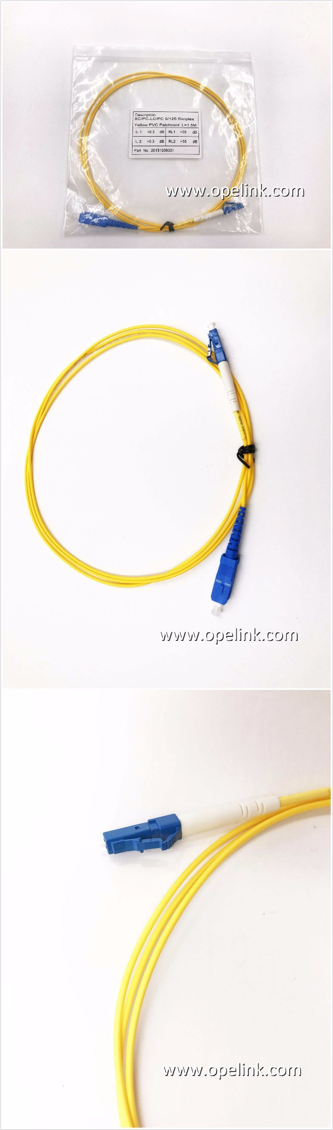Fiber Optic Patchcord (Single Mode) Sc-LC