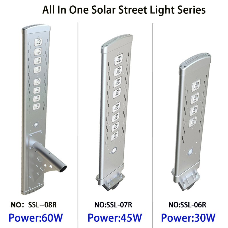 Hot Sale Motion Sensors Solar Power Outdoor Lighting All in One Solar Panel Lamp LED Solar Street Light with Remote Controlar