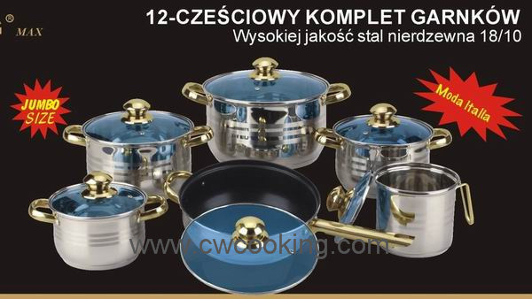 Kitchenware-12PCS Stainless Steel Cookware