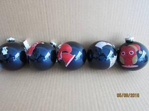 Set 12 Blue Glass Ball with Twelve Zodiac for Christmas