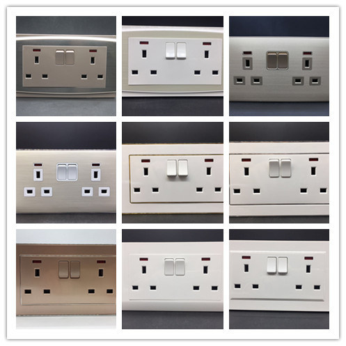2 Gang 13A Wall Switch Socket