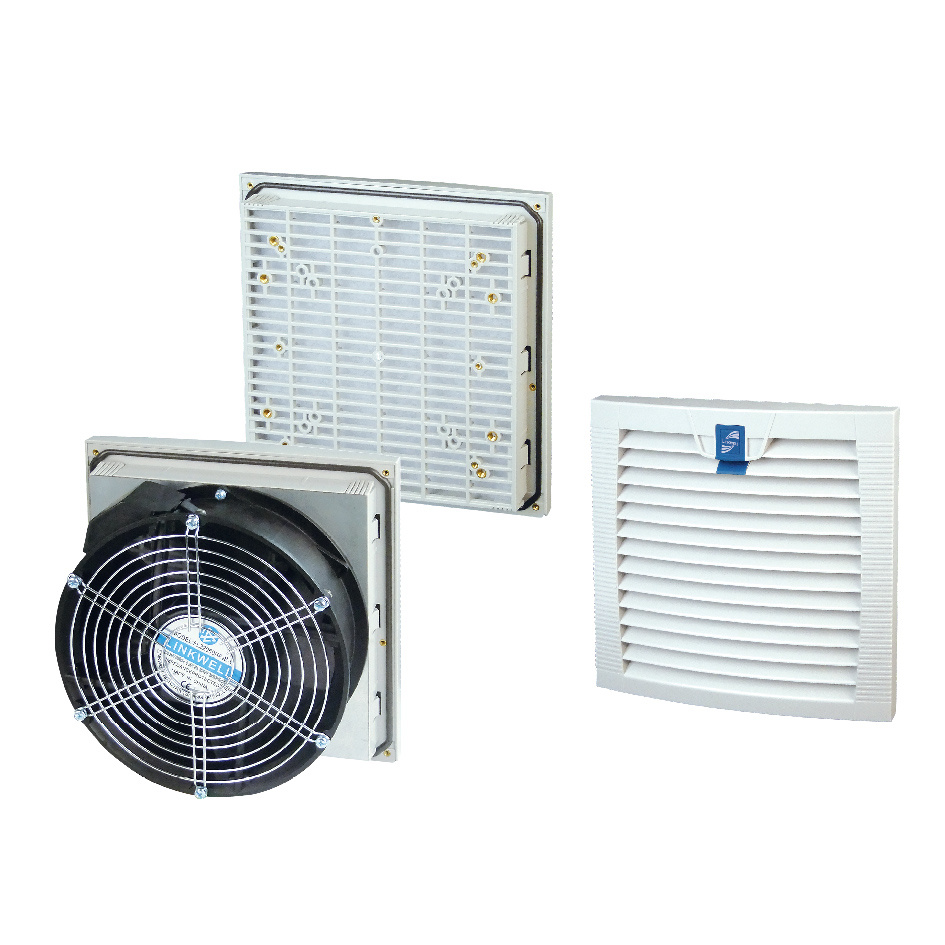 Electrical Cabinet Axial Cooling Fan and Filters Ral7035 (LK9805)