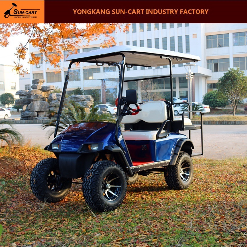 4 Seater Customized Electric Hunting Golf Cart Ce Approved Sightseeing Car