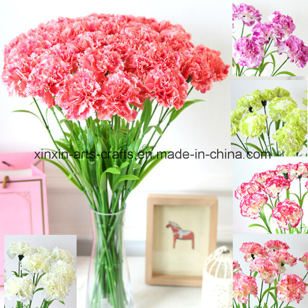 Factory Wholesale Artificial Carnation Flowers Fake Flowers
