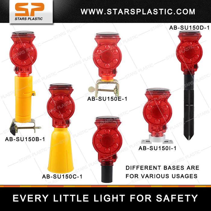 Solar LED Traffic Warning Light with Clamp for Korea Market