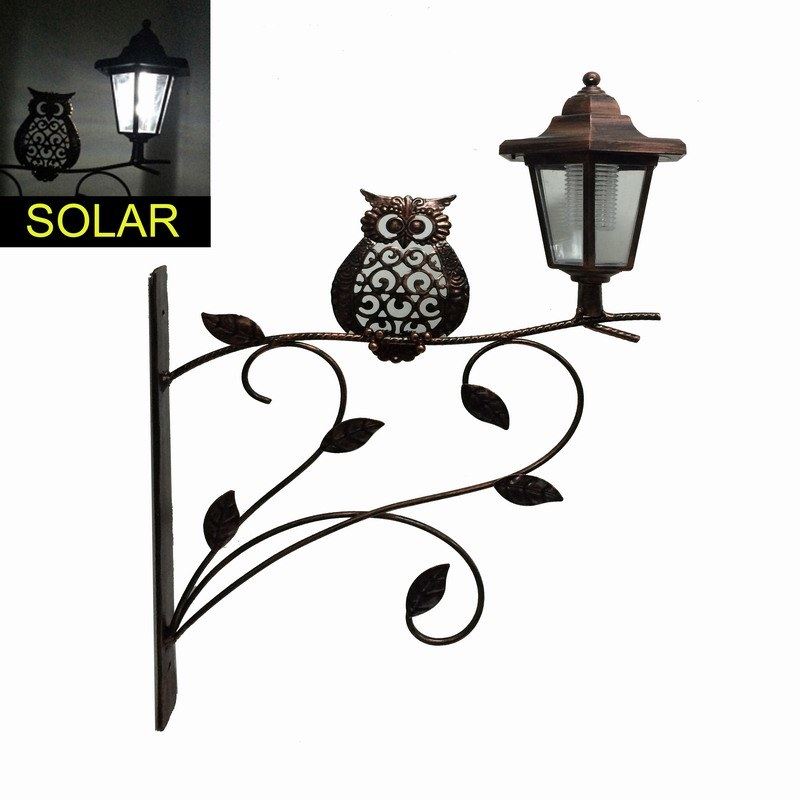 Antique Metal Garden Decoration Solar Lighted Lantern Craft
