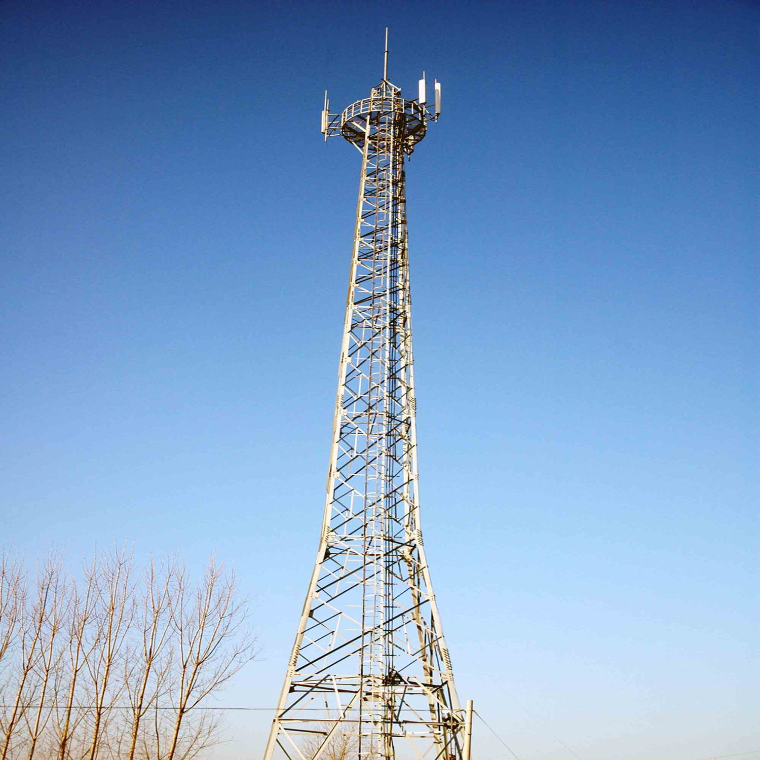 Hot Sale 45m Telecom Tower, Microwave Tower