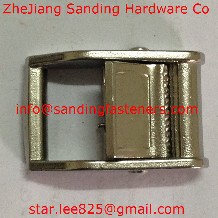 Carbon Steel Nickel Plated Fiber Belt Buckle