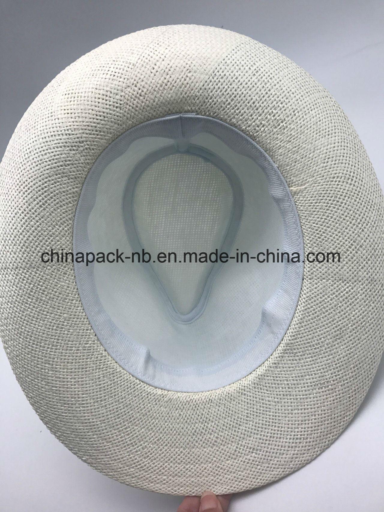 Equateur Hats White Panama Hat Spaper Straw Chapeau (CAP_60021)