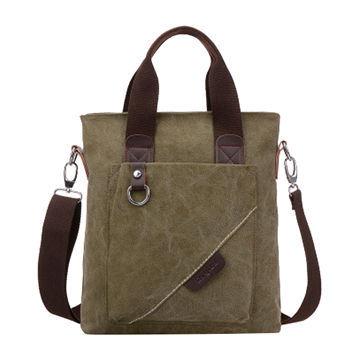 Horizontal Business Canvas Laptop Messenger Bag Briefcase Handbag