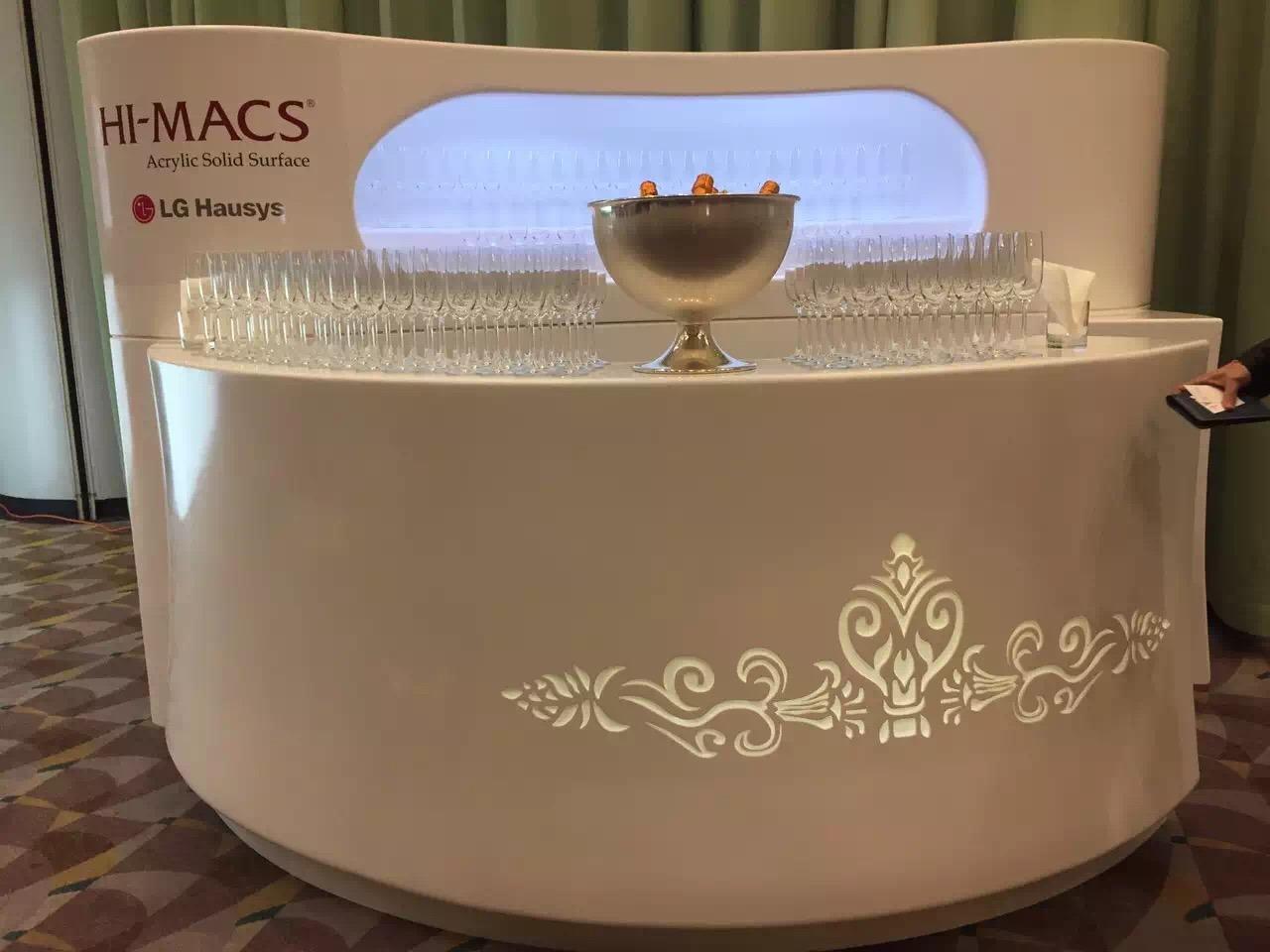 Special Design Elegant Standing Corian Lamp