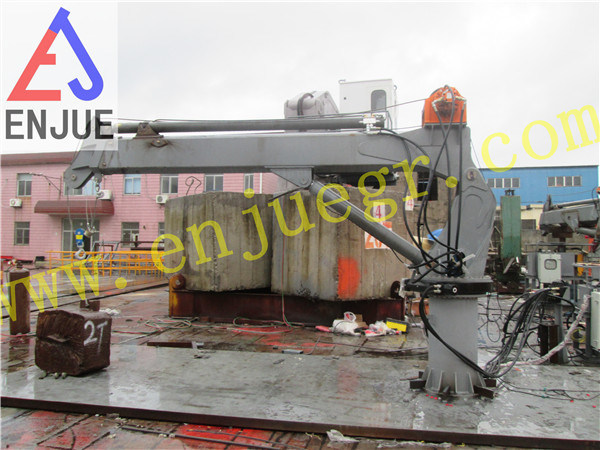Factory Testing of 20t4m Telescopic Ship Crane Vessel Crane