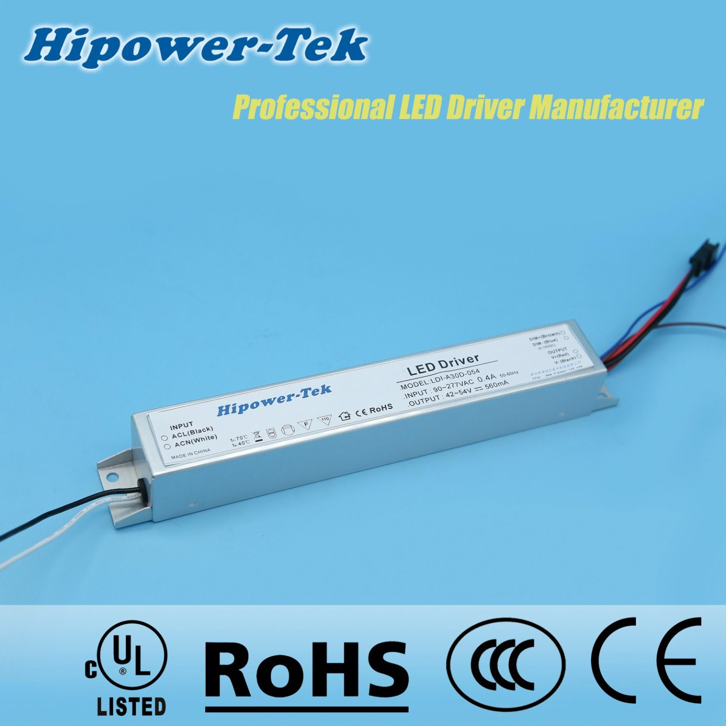 30W Constant Current Aluminum Case Dimmable Power Supply LED Driver