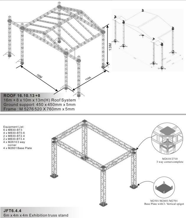 Truss System Roof Jft6 4 4 China Truss Frame