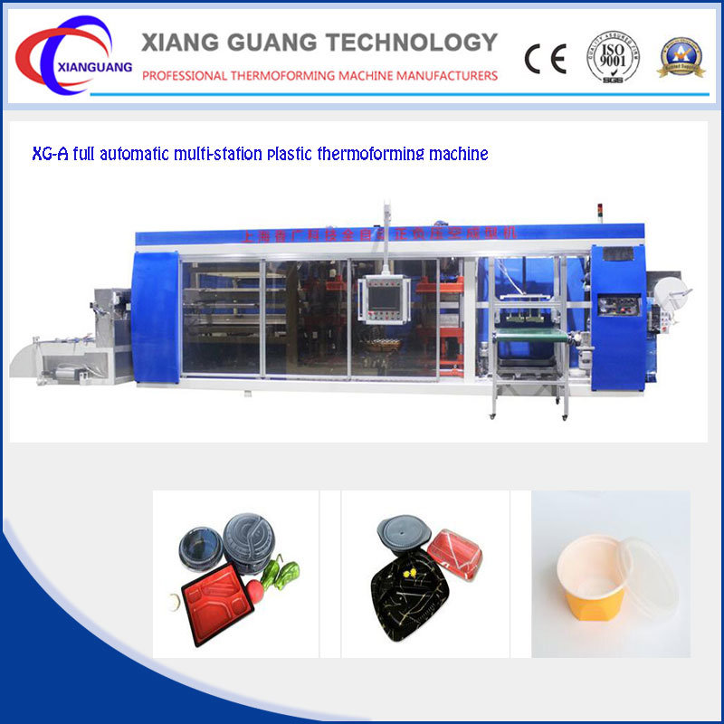 Full Automatic Multi-Station PP PS Pet Plastic Tray Forming Machine