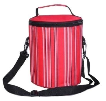 Bucket Cooler Bag Stripes Print Handbag Foil Food Bag