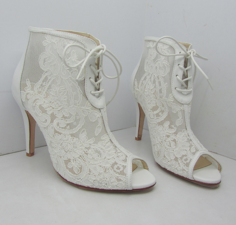 Lace Wedding Heel Shoes