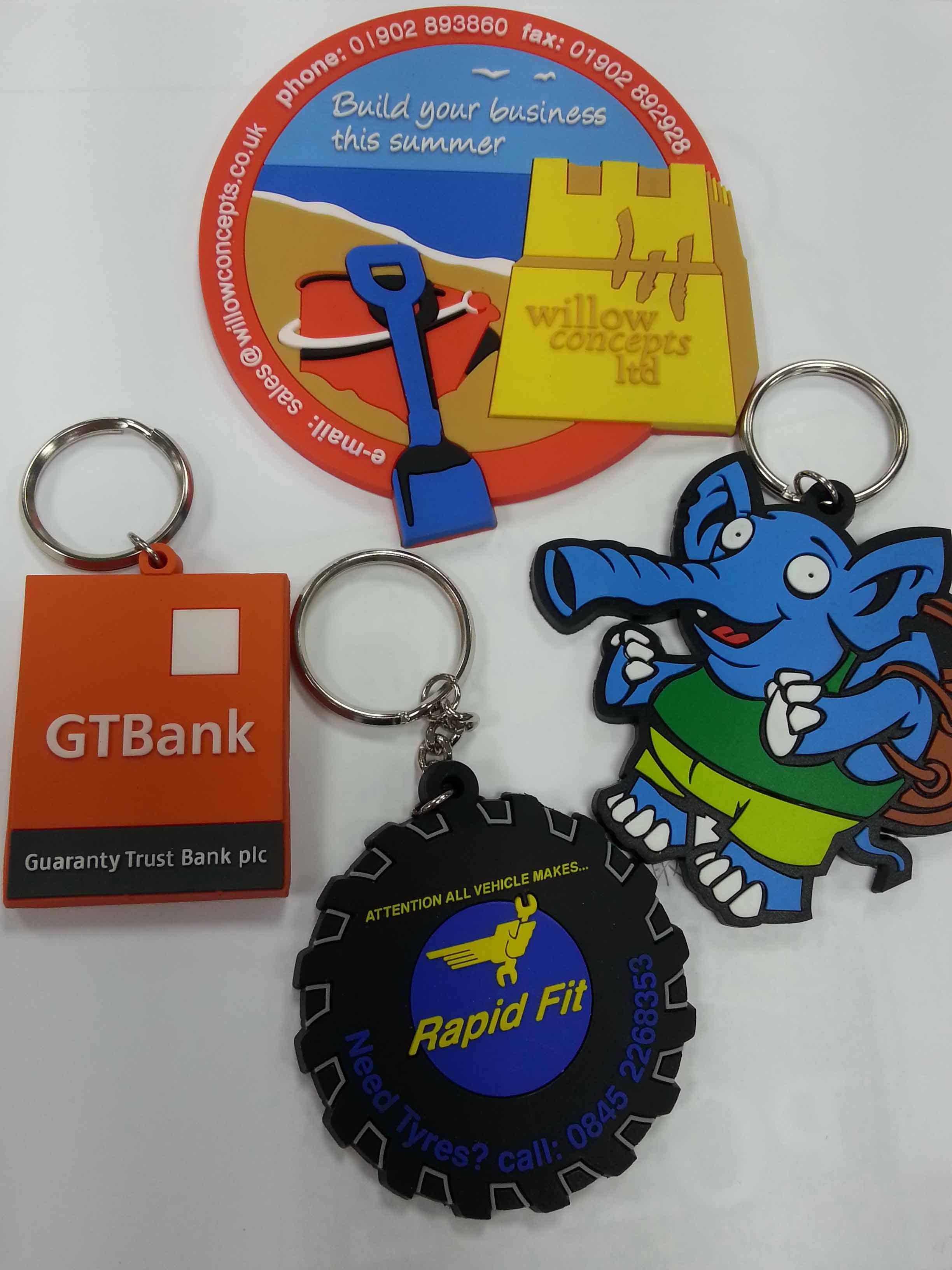Soft PVC Product, PVC Key Ring, Luggage Tag, Zipper Pull, Dog Tag, Wrist Band, Slap Band