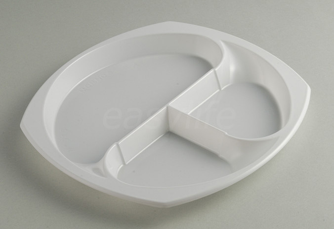 Easylife V242320-3 (24X23cm) Round Plate PS White