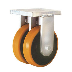 Fixed Twin Casters With PU Wheel