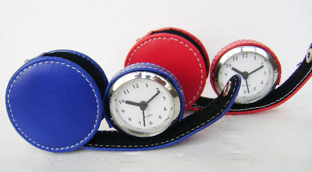 Leather Travel Alarm Clock