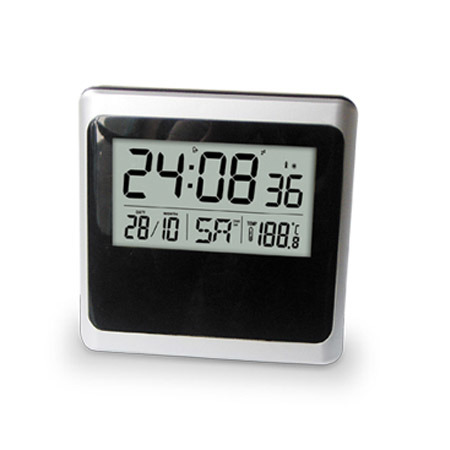radio controlled alarm clock dcf cdp0081b china radio controled clock weather station clock. Black Bedroom Furniture Sets. Home Design Ideas