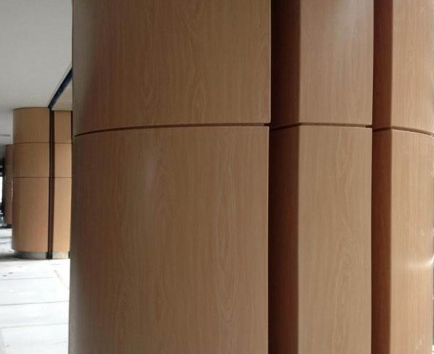 Wooden Color Aluminum Sheet / Aluminum Plate for Column Cover