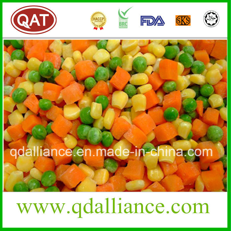 IQF Frozen Mixed Vegetables with Peas, Corn Carrot, Cut Beans