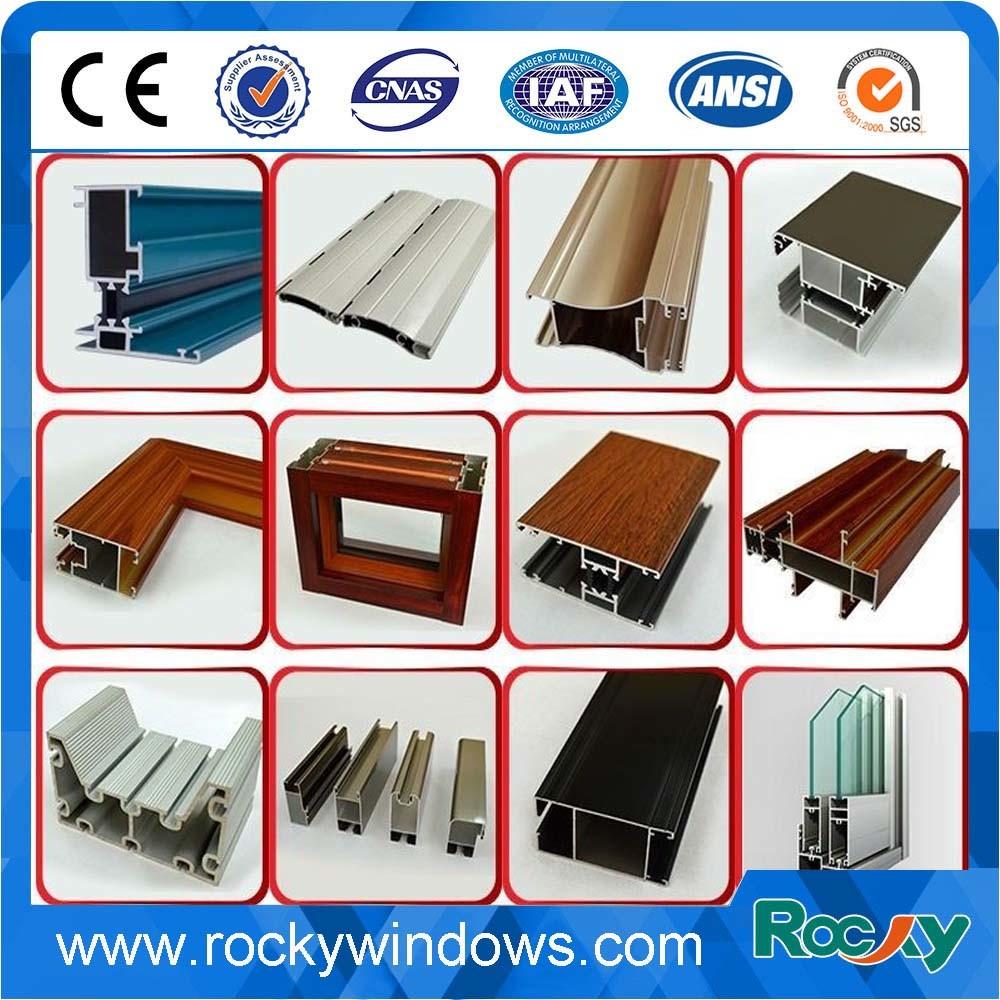 Powder Coating Window and Door Alloy Aluminum Extrusion Profile