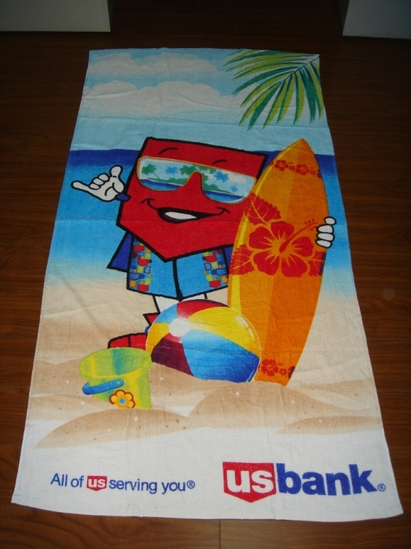 100% Cotton Full Size Reactive Printed Beach Towel