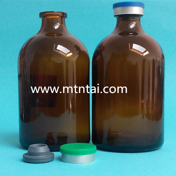 100ml Amber Color Moulded Glass Bottles