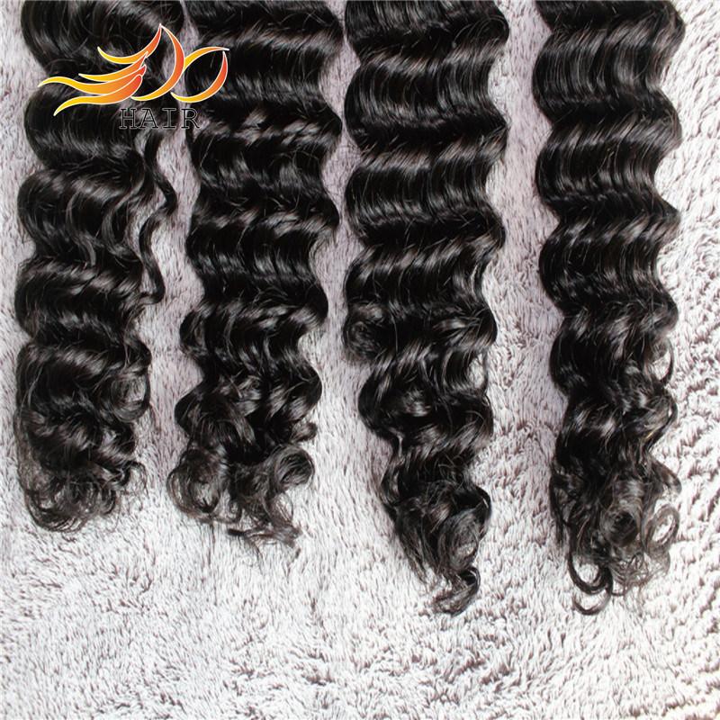 Peruvian Virgin Hair Extension Deep Wave Remy Human Hair Weaving