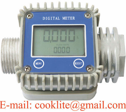 Fuel Diesel Gasoline Kerosene Oil Gear Flow Meter / Digital Flow Meter