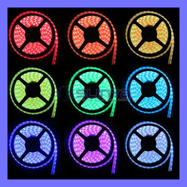 Remote Control Waterproof RGB LED 12 Color Change 5050 3528 Strip Light