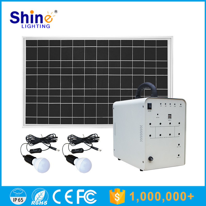 50W Solar Home Light with 5W LED Lamps