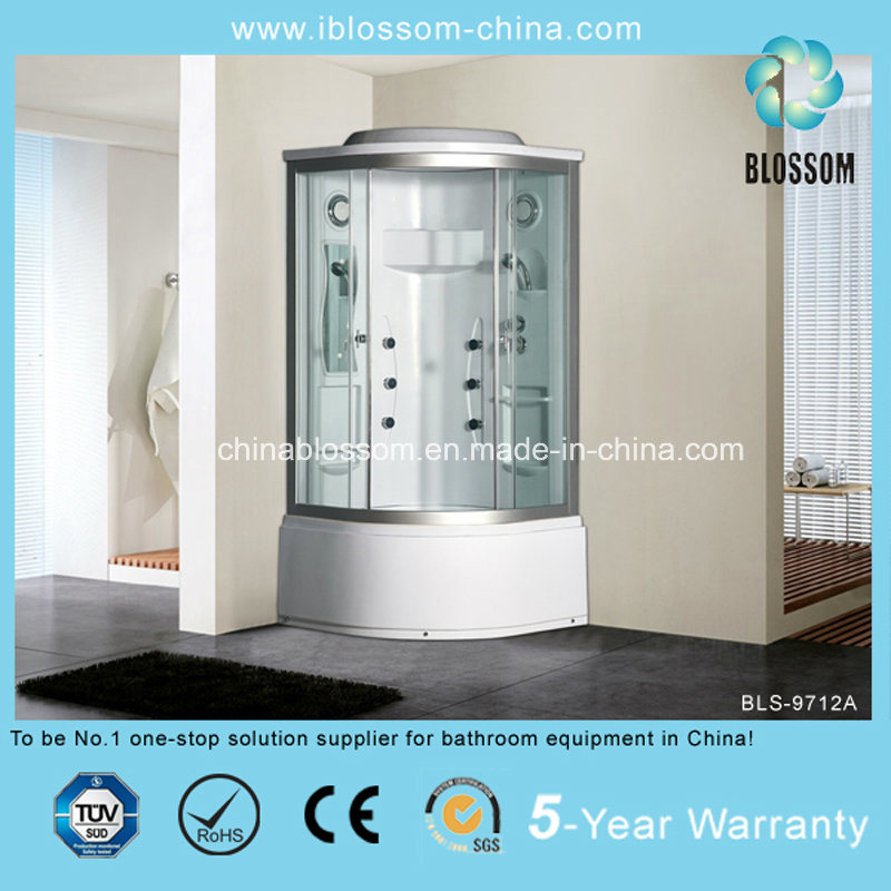 Clear Glass Steam Massage Complete Shower Room Shower Cabin (BLS-9712A)