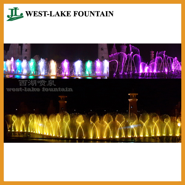Large Music Dancing Fountain at Vinpearl Phu Quoc of Vietnam