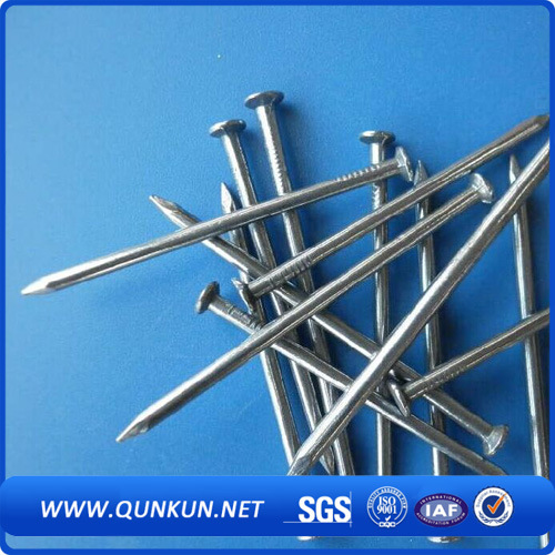 Q195 Bwg3-20 Bright Polish Galvanized Roofing Nails From Anping Factroy