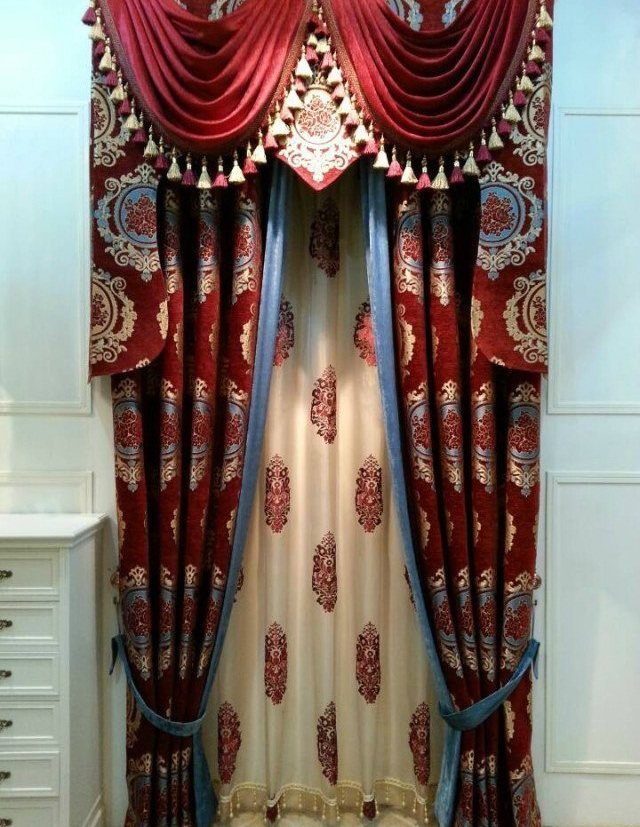 Chenille Jacquard Curtain Decoration Curtain (KS-159)