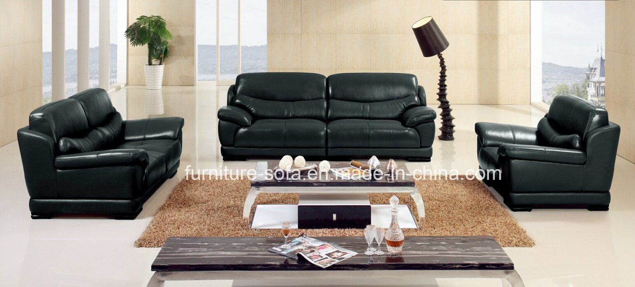 china modern living room furniture black leather sofa set so50 china sofa set recliner sofa. Black Bedroom Furniture Sets. Home Design Ideas