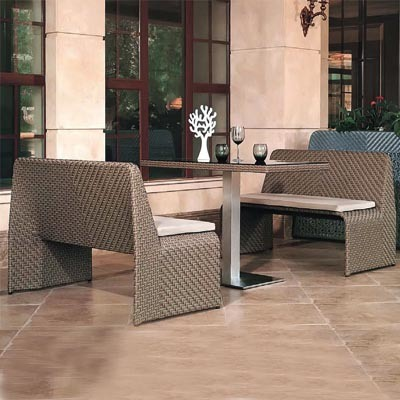 PE Rattan Outdoor Round Sofa Set Furniture