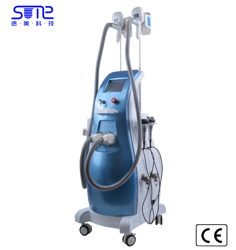 Touch Screen Cryo Cryolipolysis Handle Fat Freezing Ultrasound Cavitation RF Weight Loss Machine Lipo Laser