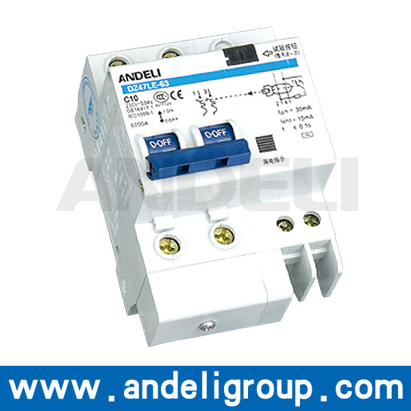RCCB Circuit Breaker Residual Current Circuit Breaker (DZ47LE-63)
